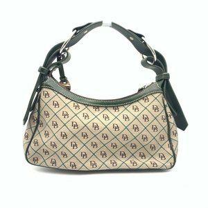 Dooney & Bourke Womens Hobo Handbag Brown Black M
